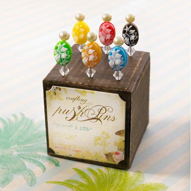 Push-pins-floral